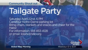 Community Events: Habs Tailgate Party